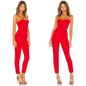 NWT Lovers + Friends Red Ella Jumpsuit sz XL